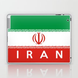 Iran country flag name text Laptop & iPad Skin