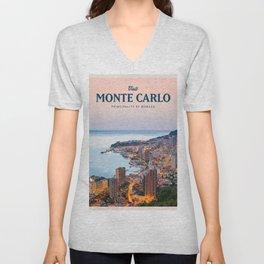 Visit Monte Carlo Unisex V-Neck