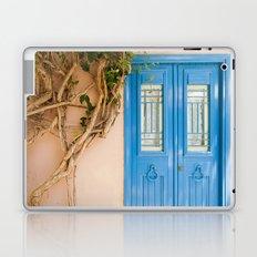 Blue Door in Chania, Crete Laptop & iPad Skin