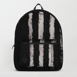 White Grunge American flag Backpack