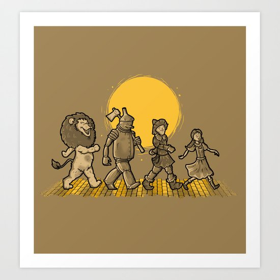 YELLOW BRICKS ROAD Art Print