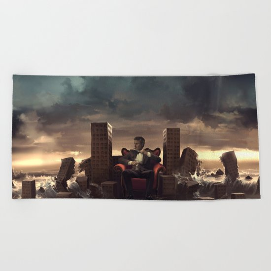 It was fun while it lasted Beach Towel