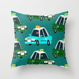 Lantau Taxi Throw Pillow