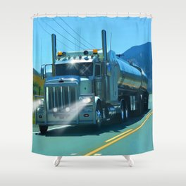 On the Highway Home Shower Curtain