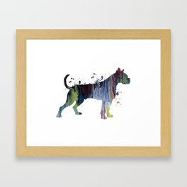 Boxer Dog Framed Art Print