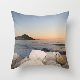 Zurriola Beach, Donostia-San Sebastian. Throw Pillow