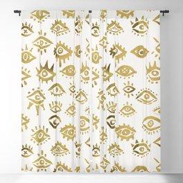 Mystic Eyes – Gold Blackout Curtain