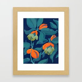 Tropical orange fruit tree Framed Art Print