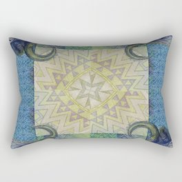Blue Buffalo Roaming Round Rectangular Pillow