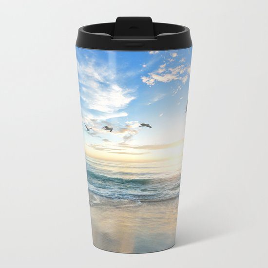Beach Scene 34 Metal Travel Mug