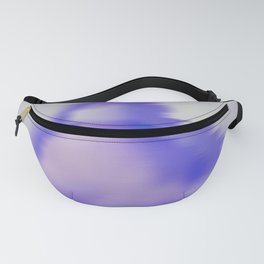 blurry blue woman Fanny Pack