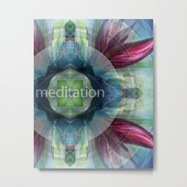 """Meditation"" by Visionary Artist Carolyn Quan Metal Print"