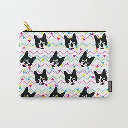 CMYK Cat Pattern Carry-All Pouch