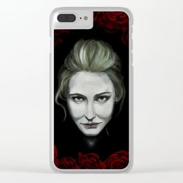 Dame of Roses Clear iPhone Case
