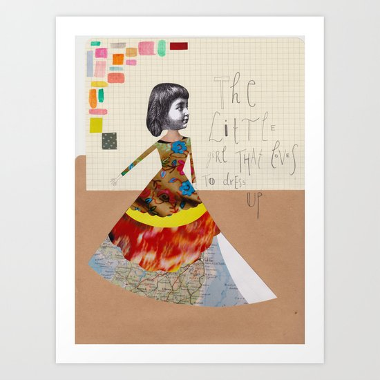 The little girl that loves to dress up Art Print