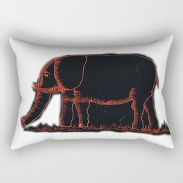 Elephants # 507 Rectangular Pillow