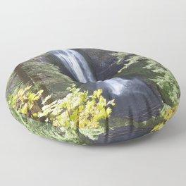 Salt creek waterfall Floor Pillow