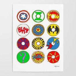 Superhero Donuts Poster