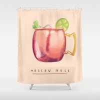 moscow Shower Curtains featuring Moscow Mule by Nan Lawson