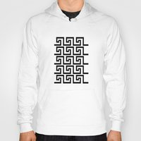 greek Hoodies featuring Greek Key by Charlene McCoy