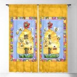 Busy Bees with Border Blackout Curtain