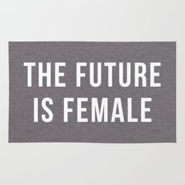 Future Is Female Quote Rug