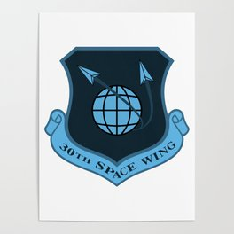 Space Force - Space Wing (Blue) Poster