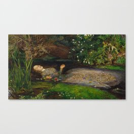 John Everett Millais - Ophelia Canvas Print
