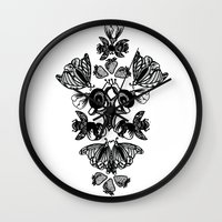 insects Wall Clocks featuring Insects by Sierra Neale