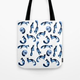 A pack of silver foxes. Tote Bag