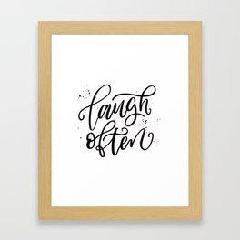 Laugh Often Framed Art Print