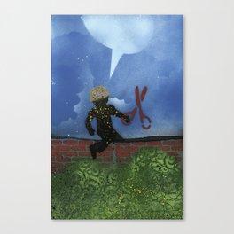 Boy With Scissors Canvas Print