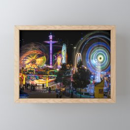 Fairground Attraction panorama Framed Mini Art Print