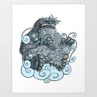 yeti Art Prints featuring Yeti by David Comito