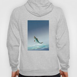 tarpon leaping out of sea Hoody