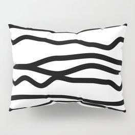 Black and White Lines Pillow Sham