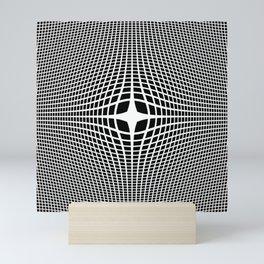 White On Black Convex Mini Art Print