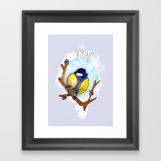 Spring birdy / Nr. 3 Framed Art Print