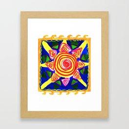 Ethnic style Sun Framed Art Print