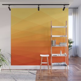 Orange and yellow ombre polygonal geometric pattern Wall Mural