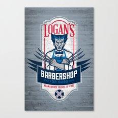 Logan's Barbershop Canvas Print