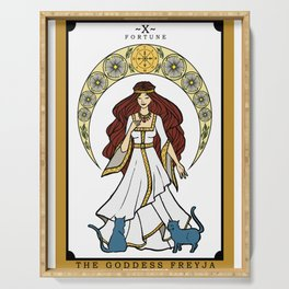 The Norse Goddess Freyja Tarot Card Serving Tray