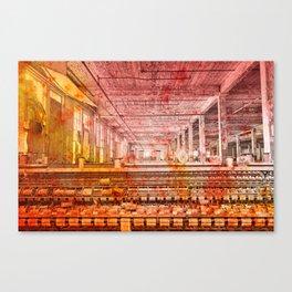 Abandoned Silk Mill - Pastel Grunge Canvas Print
