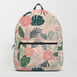 Tropical Floral Pattern Backpack