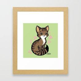 Kira Kitty Framed Art Print