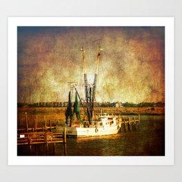 Old Shrimp Boat Art Print