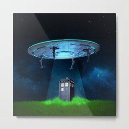 Tardis UFO Metal Print