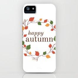 Autumn Wreath iPhone Case