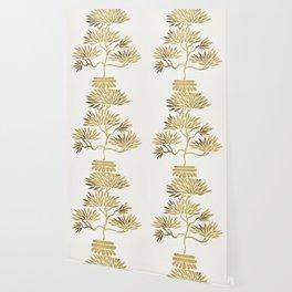 Bonsai Tree – Gold Palette Wallpaper