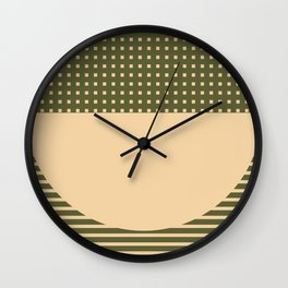 Geometric Spring Abstract - Pantone Warm color Wall Clock